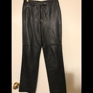HUGO BUSCATI leather pants , size 6